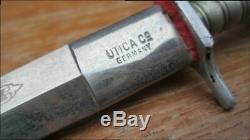 Rare Ornement Vintage Utica Co. Allemagne Gx 5169 Mexicain Stiletto Dague Couteau