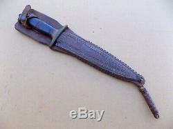 Rare Seconde Guerre Mondiale Frank Richtig Fighting Couteau Dague Avec Cornish Gaine