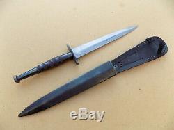 Rare Seconde Guerre Mondiale Résistance Française Fairbairn Sykes Fighting Couteau Dague