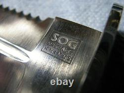 Rare Sog S25 Desert Dagger Fixed Blade Knife Excellent Près De Mint Condition