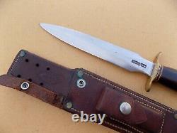 Rare Vietnam Era Randall Modèle 2-8 Poignard Couteau De Combat Avec Gaine Rivetée