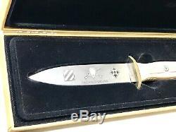 Rare Vintage Boker Allemagne Etats-unis D'infanterie Solingen Le Boot Dague Couteau Case Mint