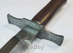 Rare Ww1 Armée Française Bourgade Trench Couteau Fighting Dagger