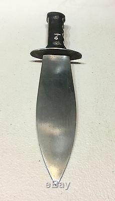 Rare Ww2 Italien Agent De Police Coloniale Pai Fighting Dague Couteau Withsheath Corne