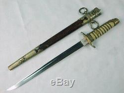 Rare Ww2 Japonais Japon Tanto Fighting Couteau Dague Avec Fourreau