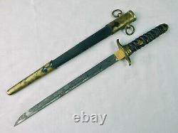 Rare Ww2 Japonais Taiwan Corée Profession Tanto Fighting Knife Dagger W Scabbrd