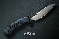 Rike F1 Cpm-d2 5 À Lame Fixe G10 Poignée Noire Droite Couteau Dague Avec Gaine