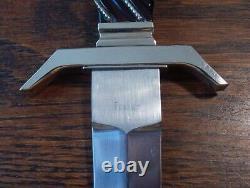 Ron Frazier Présentation Custom Dagger Knife W Nickel Silver Gaine Superbe