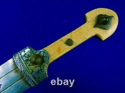 Russie Impériale Russie Antique Ww1 Kindjal Fighting Knife Dagger Avec Scabbard