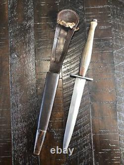 Scarce 2nd Pattern Ww2 Britannique Fairbairn Sykes Fs Fighting Knife Dagger W Gaine