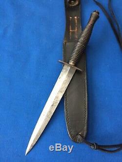 Seconde Guerre Mondiale Britannique Fairbairn Sykes F-s Poignard Commando De Combats Couteau De Fourreau
