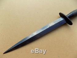 Seconde Guerre Mondiale D'origine 2e Modèle Fairbairn Sykes Fighting Couteau Dague