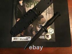 Spartan Blades Harsey Dagger Knife Fde Blade Black Handle S35vn Acier