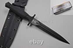 Spartan Blades V-14 Knife Dagger Pvd Avec Gaine Black Micarta & Black Kydex