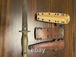 Spartan George V-14 Dagger Fixed Blade Fighting Knife Okuden Et Rmj Tactical