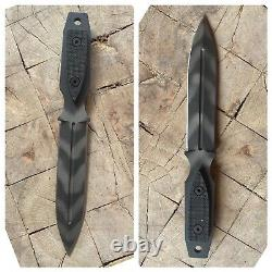 Strider Couteaux Poignard À Lame Fixe MM Double Chasse Bord Combat Couteau Noir G10