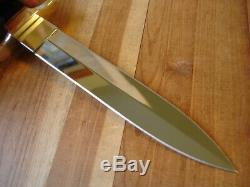 Superbe Mesure Buck 976 Dague Couteau 100 Years Gold Corne Noire Poignée Mp Lame