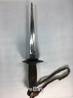 Tranchée Belge Ww1 Poignard Sanderson Couteau De Combat Brothers & Newbould
