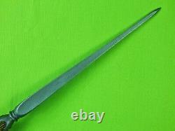 Us Custom Handmade Par Don Doug Casteel Huge Art Dagger Stiletto Fighting Knife