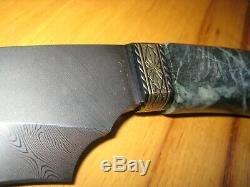 Us Custom Made Main Doug Casteel Dagger / Persan Main Jade Fighting Couteau