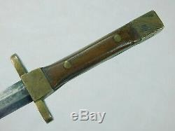 Us Ww2 Main Custom Made Theater Stiletto Petit Fighting Couteau Dague