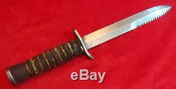 Us Wwii Usm3 Case Combat Trench Knife / Dague Sawback (w. Fourreau Original)