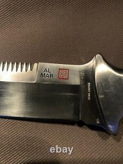 Vintage 1980 Al Mar Seki Japon 3004 Sere Fighting Dagger Knife Handmade Case