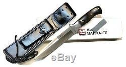 Vintage 1980' Al Mar Seki Japon Fighting Dague Couteau Gaine Cas