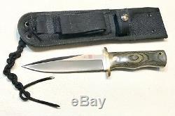 Vintage 1980 Al Mar Seki Japon Fighting Dague Couteau Gaine En Nylon Monnaie