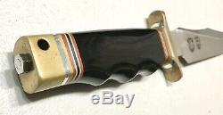 Vintage 1980 Al Mar Sof Sog Seki Japon Bérets Verts Combat Dague Couteau Gaine