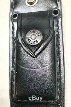 Vintage 1980 Al Mar Sof Sog Seki Japon Combat Bérets Verts Dague Couteau Gaine