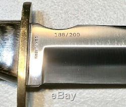 Vintage 1980al Mar Seki Japon Fighting Dague Couteau Le188 / 200 Gaine 13
