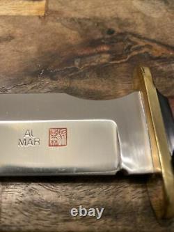 Vintage Années 1980 Grand Al Mar Grunt II 2 Poignard Couteau Original Gaine Menthe 13