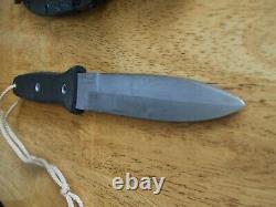 Vintage Blackjack Blackmoor 2000 Couteau De Combat À Lame Fixe