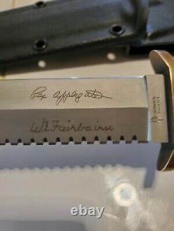 Vintage Boker Applegate Fairbairn Dague Couteau # 523 Withsheath Ne Jamais Utiliser Aucun Box