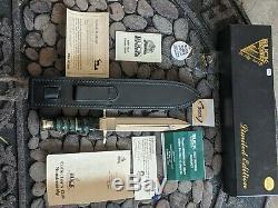 Vintage Buck 103 Couteau Poignard 100 Ans D'or Gravé De Rendu 434 De 1000