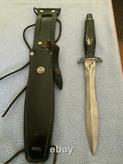 Vintage Et Rare! Couteau De Survie Gerber Mark II Avec Lame De Poignard À Double Tranchant
