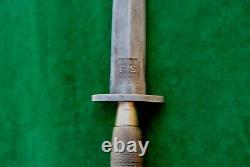 Vintage Fairbairn Sykes Commando Angleterre British Fighting Knife Poignard Khanjar
