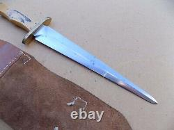 Vintage Haake Handmade Custom Large Dagger Fighting Knife Scrimshaw