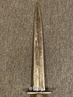 Vintage Original Ww2 Fairbairn Sykes Dagger Fighting Couteau Angleterre