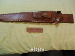 Vintage Randall Couteau 13 12 Rough Dos Bouton Lisse En Cuir Arkansas