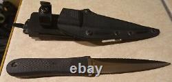 Vintage Rare Sog Pentagon Seki Japan Combat Boot Fixed Blade Knife Poignard Kydex