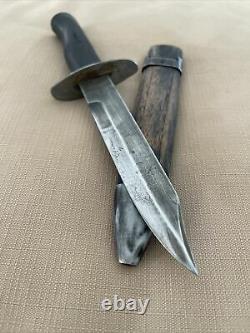 Vintage Russe Ww2 Couteau De Combat Dagger Vieux