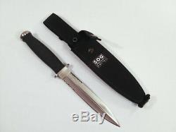 Vintage Sog Seki Désert Dagger S25 Tactique De Combat Couteau, Mint, Tres Rare