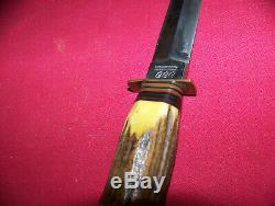 Vintage Stag Allemande CCC Couverts Stag Solingen Dague Couteau 10-1 / 2 Po. Withsheath