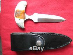 Vintage Taylor Schauenberg Chirurgie Japon A Fait Main Boot Dague Couteau Poignée D'os