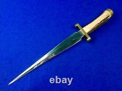 Vintage Us Custom Made Handmade Huge Stiletto Hunting Fighting Knife Poignard