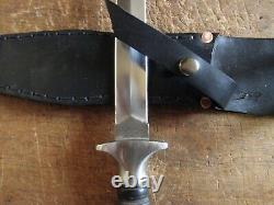 Vintage Valor 373 Poignard Fighting Boot Knife Withsheath, Super Nice