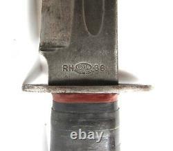Vintage Wwii Us Army Fighting Knife Pal Rh-36 Baïonnette Dagger Bowie Ww2
