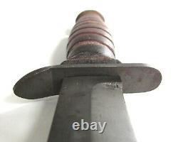 Vintage Wwii Us M3 Couteau De Combat Imperial M8 Galbard Dague Ww2 B-n 3 Bride